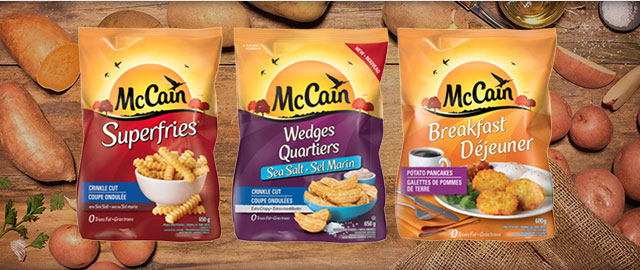 McCain Potato or Onion Ring products coupon