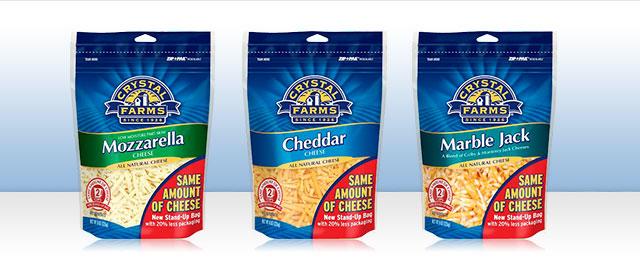 Crystal Farms® Shredded Cheese coupon