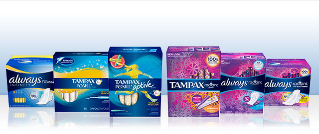 Buy 2: Always Infinity or Tampax Pearl or Radiant Collection products coupon