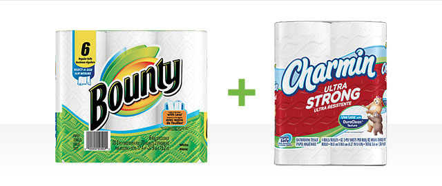 Combo: Select Charmin + Bounty products coupon
