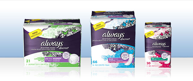 Always Discreet products coupon
