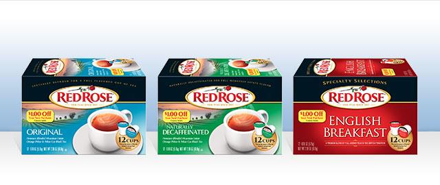 Red Rose® Black Tea Single Serve Cups coupon