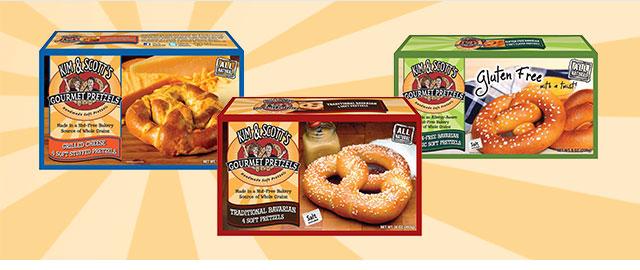 Buy 2: Kim & Scott's® Gourmet Pretzel products coupon
