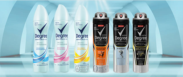 Degree anti-perspirant or deodorant coupon