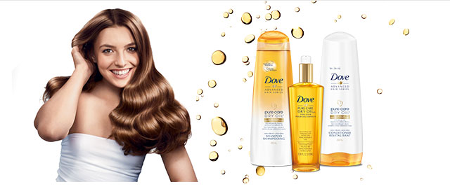 Dove Pure Care Dry Oil™ hair care products coupon