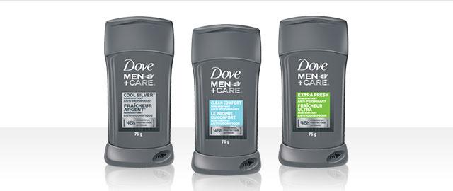 Dove Men+Care® deodorant or anti-perspirant stick coupon