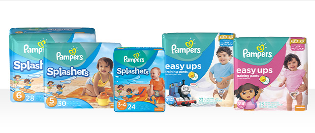 Pampers Easy Ups ou Splashers  coupon