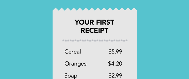 Upload your first receipt coupon