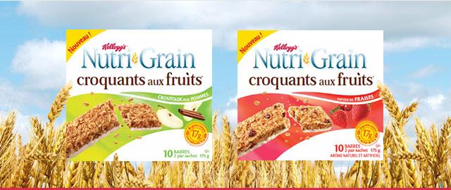 Achetez 2: Barres Nutri-Grain Croquants* aux fruits coupon