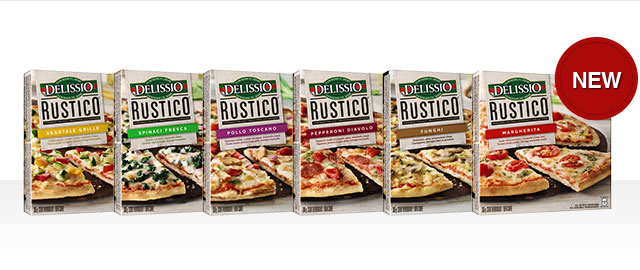 At Select Retailers: DELISSIO® RUSTICO™ Frozen Pizza coupon