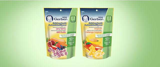 Buy 2: NESTLÉ GERBER® Fruit & Veggie Melts™  coupon
