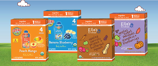 At Select Walmart Stores: Buy 2: Ella's Kitchen® or Earth's Best® 4-Pack products coupon