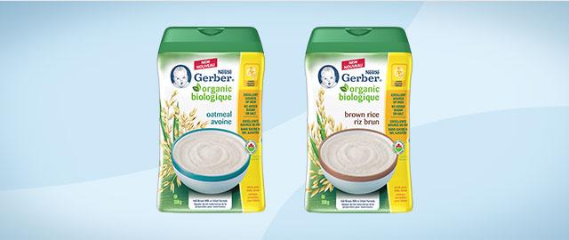 NESTLÉ® GERBER Organic Baby Cereals coupon