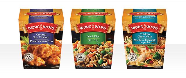 Sélection de plats principaux Wong Wing® coupon
