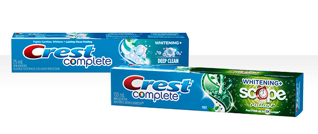 Dentifrice Crest® Complete coupon