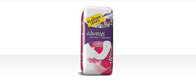 Always® Discreet Liners coupon