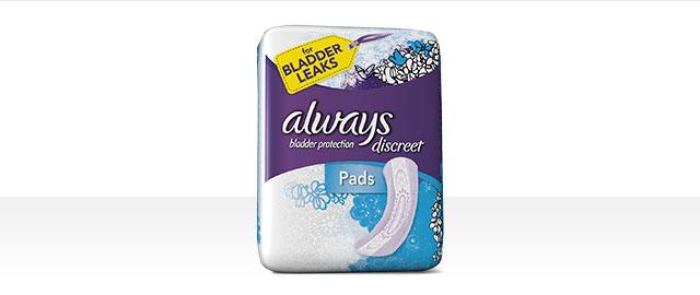 Always® Discreet Pads coupon