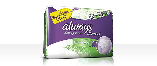 Buy 2: Always® Discreet Underwear coupon