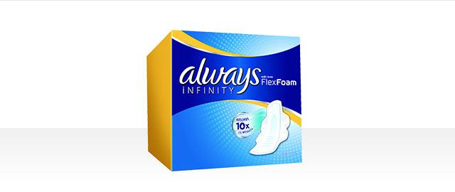 Produits de collection Always® Infinity  coupon