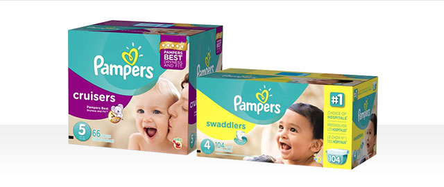 Pampers® Swaddlers ou Cruisers Boxes coupon