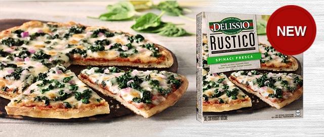 DELISSIO® RUSTICO™ Spinaci Frozen Pizza coupon
