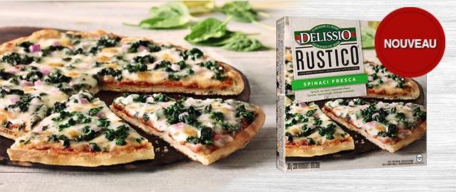 DELISSIO® RUSTICO™ Spinaci pizza surgelée coupon