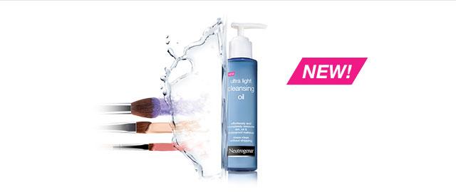 Neutrogena® Ultra Light Cleansing Oil coupon