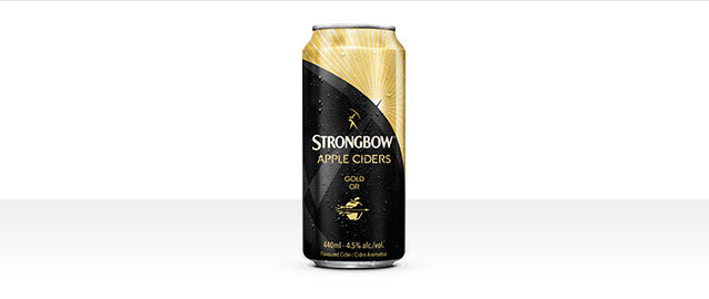 Buy 4: Strongbow Apple Ciders Gold 440 mL cans* coupon
