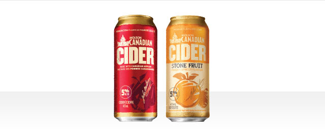 At LCBO: Buy 4: Molson Canadian Cider or Stone Fruit 473 mL Cans* coupon
