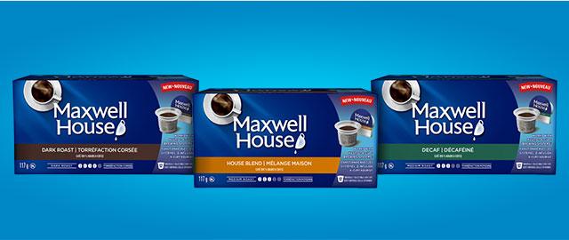 Achetez 2: Capsules MAXWELL HOUSE compatibles avec les systèmes* Keurig® coupon