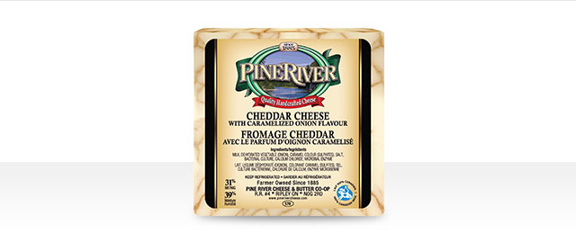 Pine River Cheddar cheese with Caramelized Onion Flavour coupon