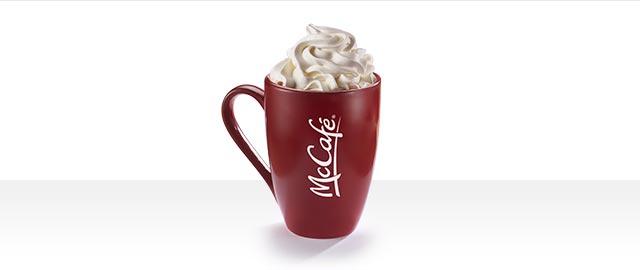 At McDonald's® in Walmart: McCafé® Peppermint Mocha coupon