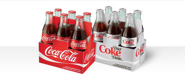 Buy 2: Coca-Cola® 6-pack glass bottles coupon
