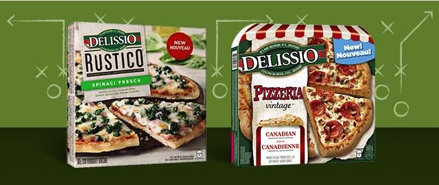 Buy 2: DELISSIO® PIZZERIA VINTAGE® or DELISSIO RUSTICO™ Frozen Pizza coupon