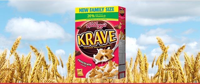 Buy 2: Kellogg's Krave Cereal  coupon