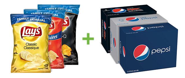 Lays & Pepsi: Buy 3 Lays & 3 Pepsi 12pks coupon