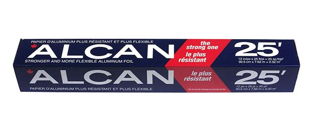 Alcan aluminum foilwrap coupon