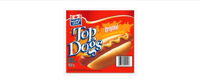 Maple Leaf Top Dog hot dogs coupon