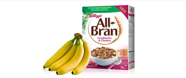 Kellogg's All-Bran* Cereal + Bananas coupon