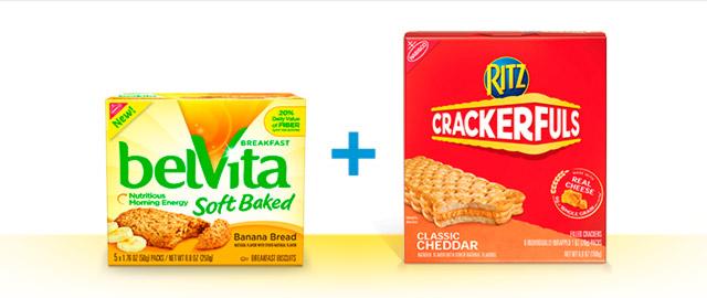 RITZ Crackerfuls and belVita Breakfast Biscuits coupon
