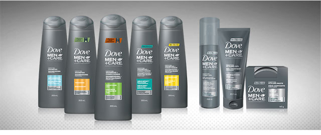 Dove Men+Care hair care products coupon