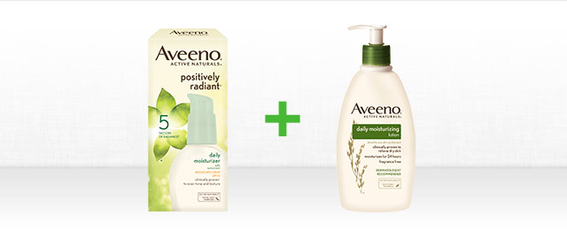 Buy 1 AVEENO® Facial Care product + 1 Body Care product coupon