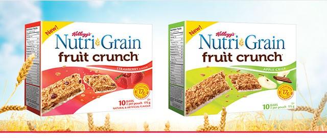 Buy 2: Nutri-Grain Fruit Crunch* bars coupon