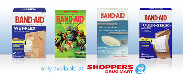 BAND-AID® Brand at Shoppers Drug Mart coupon